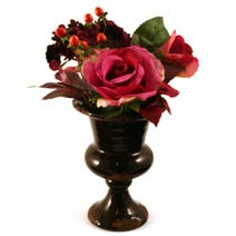 Dorma Rose Hydrangea and Berries in a Ceramic Vase