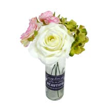 Love Quote Floral Bottle Arrangement