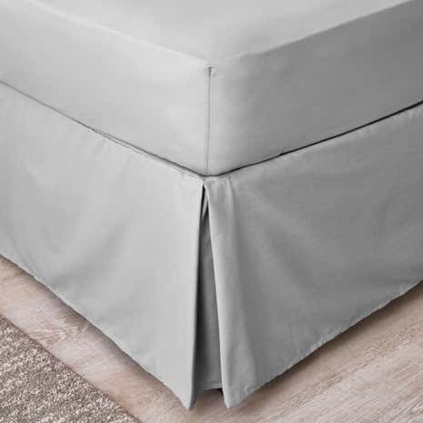 Non Iron Plain Dye Slate Grey Divan Trim