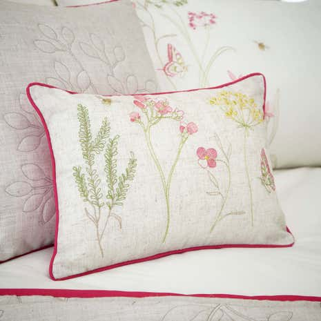 Botanical Gardens Natural Boudoir Cushion