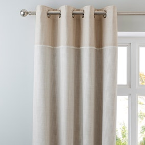 Millie Natural Thermal Eyelet Curtains