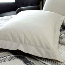 Grey Salvage Check Oxford Pillowcase
