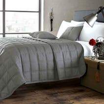 Salvage Grey Bedspread