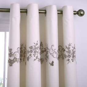 Parisian Cream Thermal Eyelet Curtains