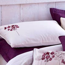 Hydrangea Plum Housewife Pillowcase