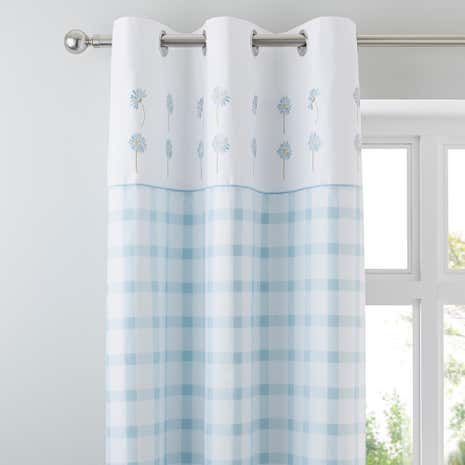 Daisy Duck-Egg Thermal Eyelet Curtains