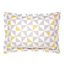 Skandi Geometric Yellow Oxford Pillowcase