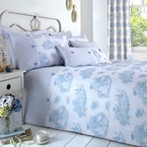 Toile de Jouy Blue Duvet Cover Set