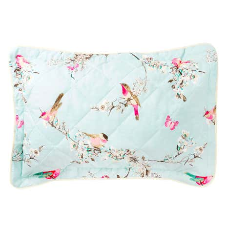 Beautiful Birds Duck-Egg Pillow Sham