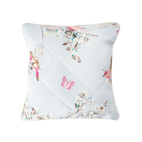 Beautiful Birds Duck-Egg Square Cushion