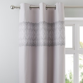 Claudia Grey Thermal Eyelet Curtains