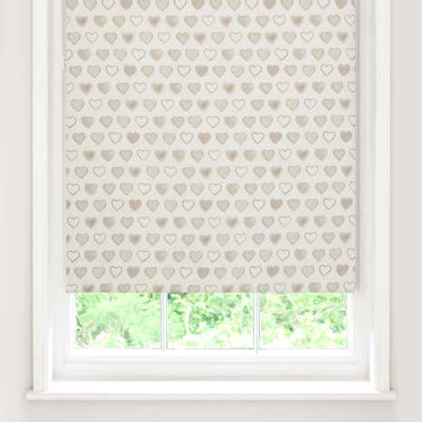 Country Hearts Blackout Roller Blind