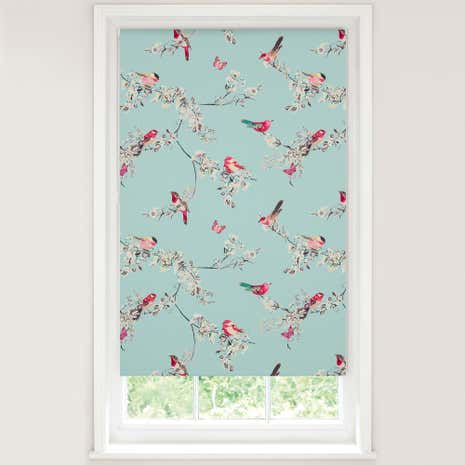 beautiful birds duck egg blackout roller blind dunelm. Black Bedroom Furniture Sets. Home Design Ideas