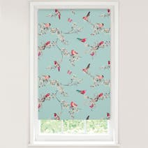 Duck Egg Beautiful Birds Blackout Roller Blind