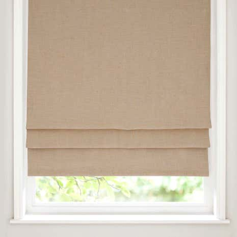 Beige Linen Blackout Roman Blind