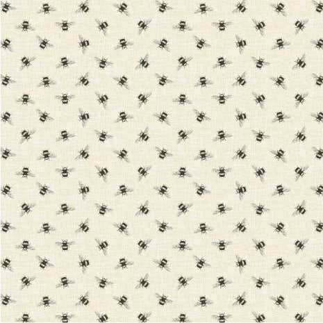 Natural Bees Fabric
