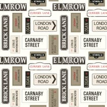 London Street Signs Fabric