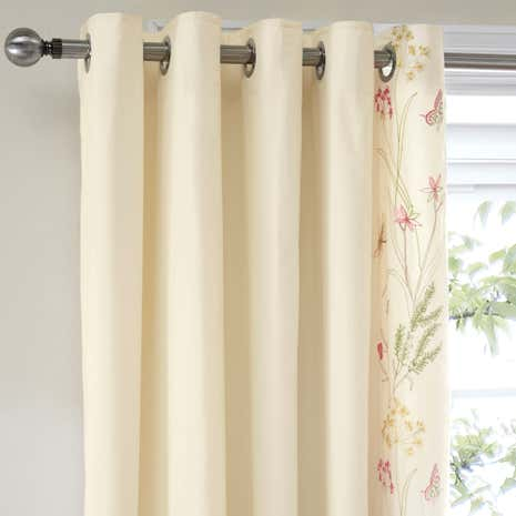 Botanical Gardens Natural Thermal Eyelet Curtains