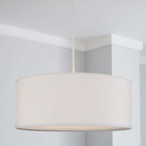 Bailey Woven White Light Pendant