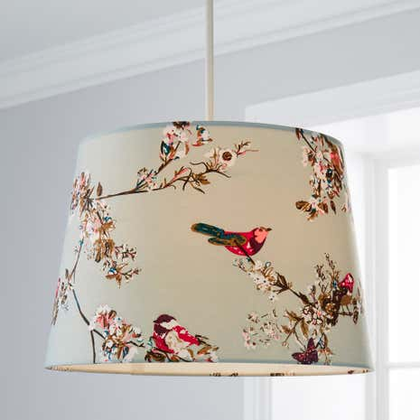Beautiful Birds Duck-Egg Ceiling Light Shade