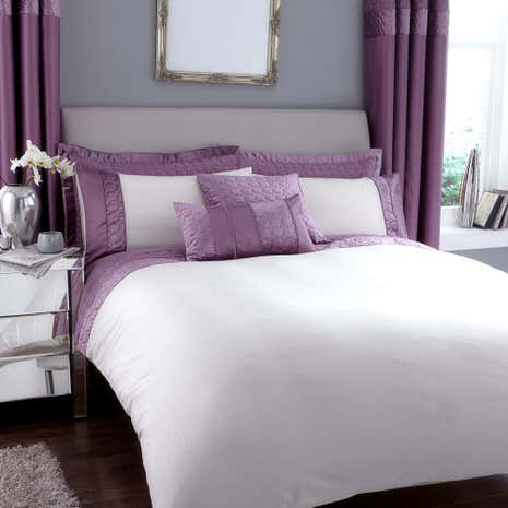 vienna emboridered heather duvet cover dunelm. Black Bedroom Furniture Sets. Home Design Ideas