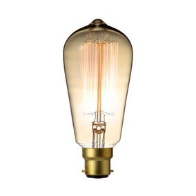 Retro 40W Bayonet Cap Decorative Bulb