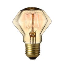 Retro 40W Edison Screw Faceted Light Brown Bulb
