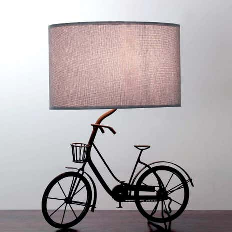 Jasper Metal Bicycle Lamp Grey shade