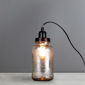 Glass Jar Table Lamp