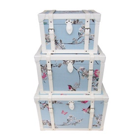 Beautiful Birds Duck-Egg Chest