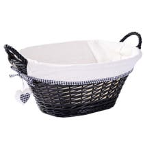 Black Lexi Oval Basket