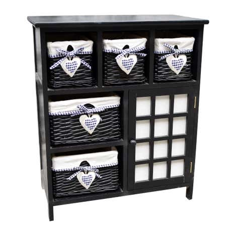Black Lexi Storage Cabinet