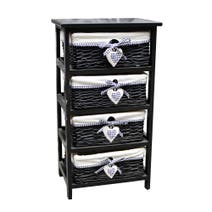Black Lexi 4 Drawer Unit