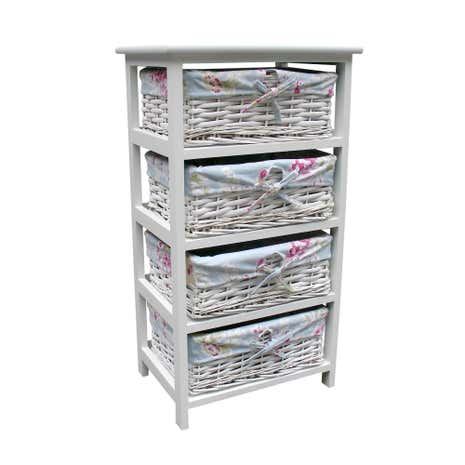 White Rose 4 Drawer Tower
