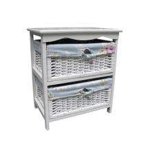 White Rose 2 Drawer Tower
