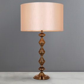 Metal Zig-Zag Table Lamp