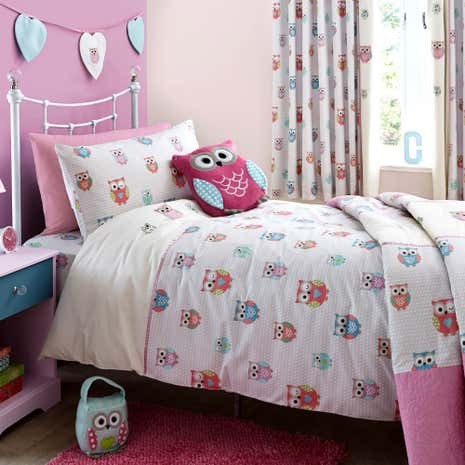 Pretty Owls Duvet Cover and Pillowcase Set