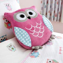 Kids Pretty Owls 3D Cushion
