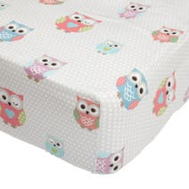 Pretty Owls 25cm Fitted Sheet