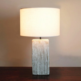 Roxy Distressed Wood Table Lamp