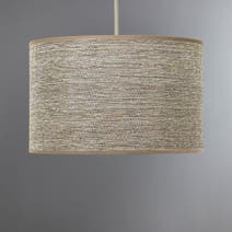 Brown Carrie Textured Ceiling Light Shade