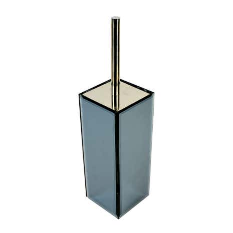 Smoked Mirrored Toilet Brush Holder