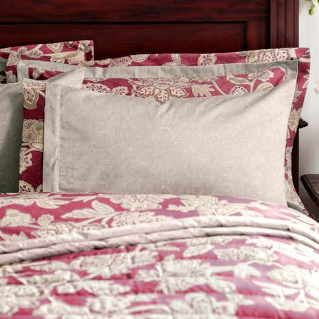Dorma Samira Red Cuffed Pillowcase