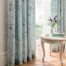 Dorma Duck Egg Maiya Lined Pencil Pleat Curtains