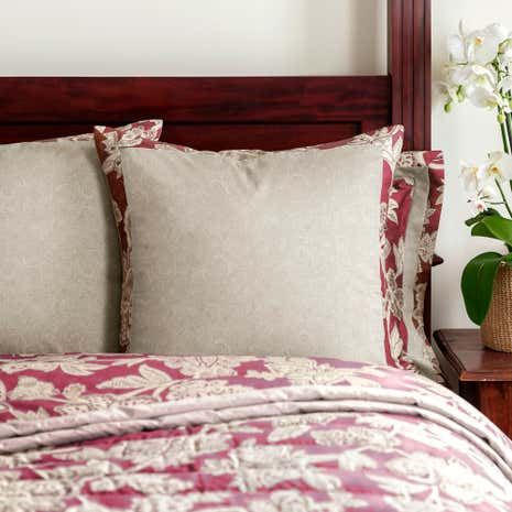Dorma Samira Red Continental Pillowcase