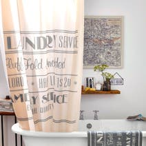 Natural Salvage Shower Curtain