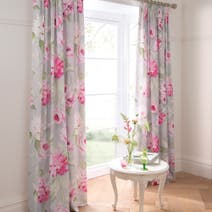 Dorma Pink Nancy Lined Pencil Pleat Curtains