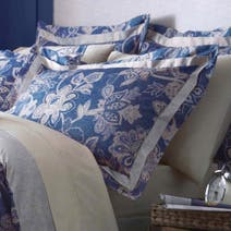 Dorma Blue Samira Oxford Pillowcase