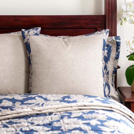 Dorma Samira Blue Continental Pillowcase