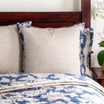 Dorma Blue Samira Continental Pillowcase